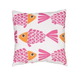 Handmade Animal Print Pink 20-inch Throw Pillow