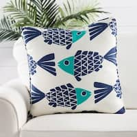 Handmade Animal Print Blue 20-inch Throw Pillow