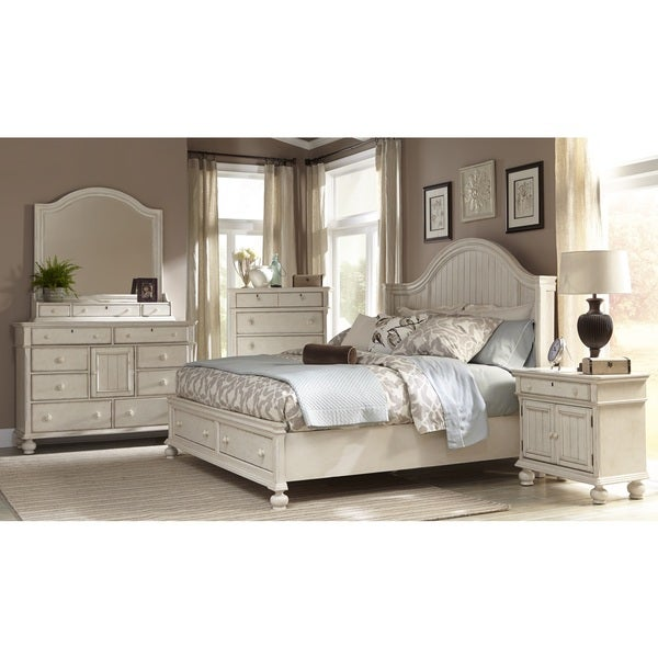 Greyson Living Laguna Antique White Storage Bed 6-piece Set - Free ...