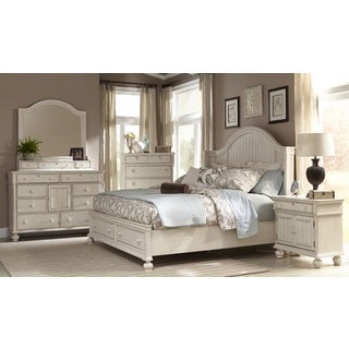 Greyson Living Laguna Antique White Storage Bed 6-piece Set
