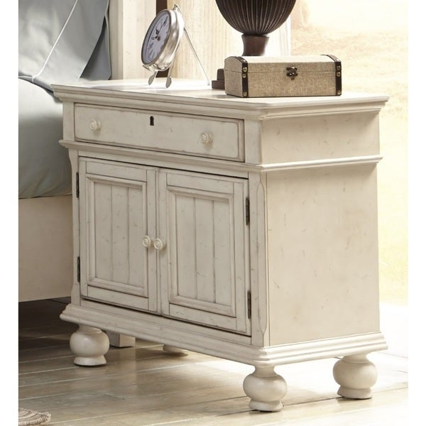 Greyson Living Laguna Antique White Wood 2-door Nightstand