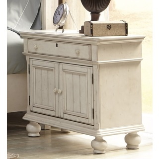 rustic white nightstand. Harbor Point Antique Cobblestone White 3 Drawer Nightstand By Rustic T