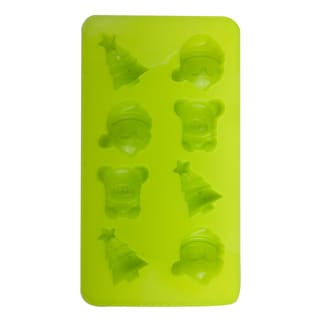 2 PACK Silicone Christmas Accents Shape Mold/tray - Good for Baking, Cooking and Molding!!!