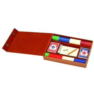 Royce Leather Professional Poker Set (Option: Tan)