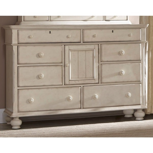 laguna antique white dresser and optional mirror with storage box by greyson living free shipping today