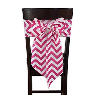 Zig Zag Candy Chair Tie with Tapered Ends & Serged Edges, Set of 2