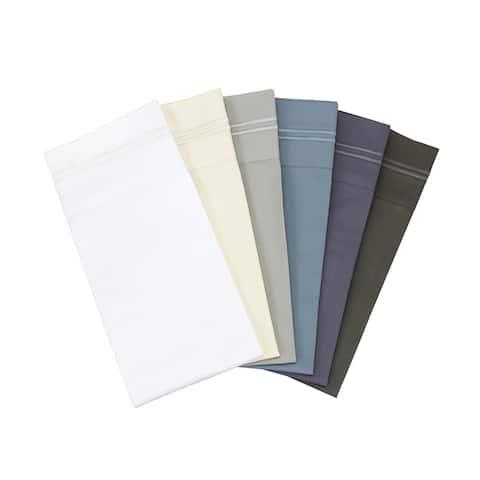 600 Thread Count Long Staple Cotton Border Stripe Embroidery Sheet Set