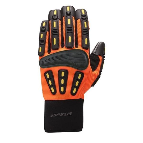Seirus Men's Hi-Vis Orange HWS Workman Gripper Glove