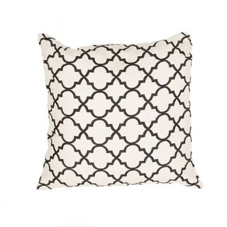 Handmade Moroccan Ivory/ Black 20-inch Throw Pillow