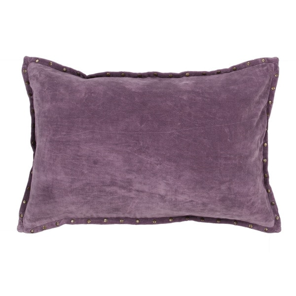 Solid Purple Decorative Pillows : Handmade Solid Purple 16-inch Throw Pillow - Free Shipping Today - Overstock.com - 17212268