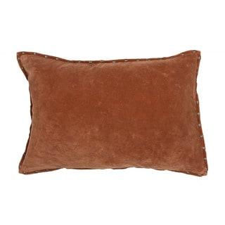 Handmade Solid Orange 16-inch Throw Pillow
