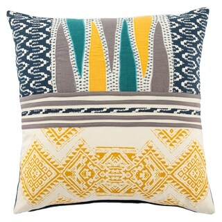 Handmade Tribal Yellow/ Multi 22-inch Throw Pillow (2 options available)