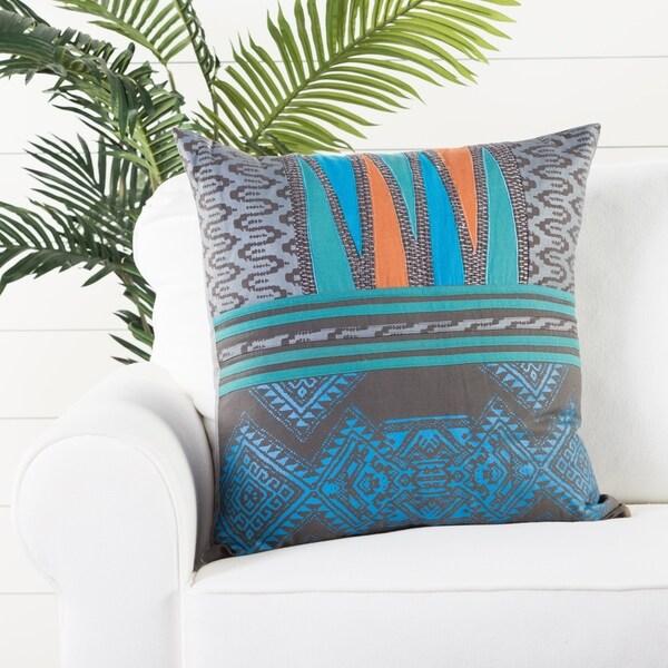Handmade Tribal Blue/ Multi 22-inch Throw Pillow