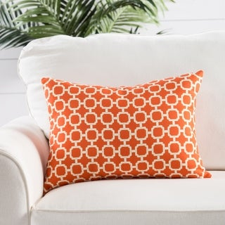 Handmade Geometric Orange 13-inch Throw Pillow