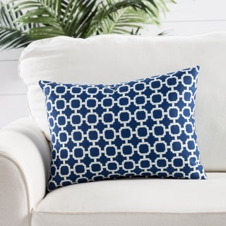 Handmade Geometric Blue 13-inch Throw Pillow
