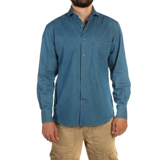 Alara Soft Wash Italian Indigo Denim Cut Away Collar Shirt