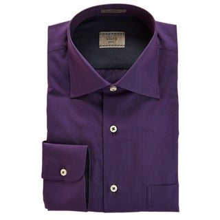 Alara Elegant Plum End on End Texture Shirt