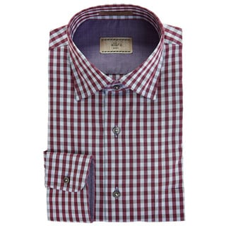 Alara Soft Wash Tonal Plum Melange Gingham Check Egyptian Cotton Poplin Shirt