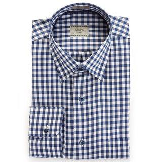 Alara Blue Twill Check Shirt