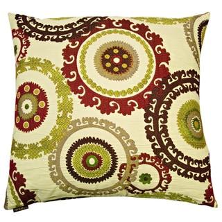 Link to Taraz Decorative Feather Down Hidden Zipper 24-inch Decorative Throw Pillow Similar Items in Decorative Accessories