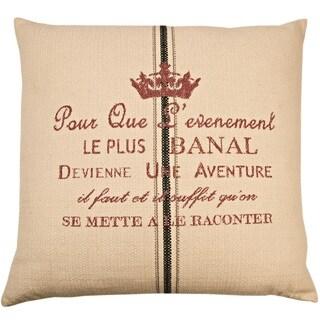 Aventure Decorative 24-inch Throw Pillow