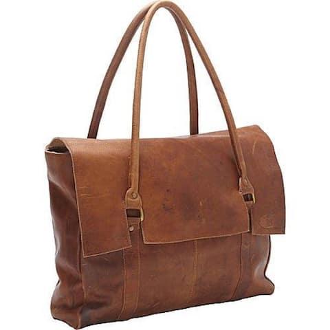 Large Oversized Soft Brown Leather Handbag - XL