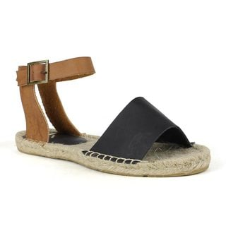 Fahrenheit Women's Leanne-01 Flat espadrille sandal
