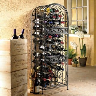 Renaissance Wrought Iron Wine Jail|https://ak1.ostkcdn.com/images/products/10068444/P17212894.jpg?impolicy=medium