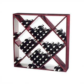 Jumbo Bin 120-Bottle Mahogany Wine Rack