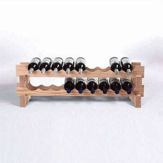 18-Bottle Stackable Natural Wine Rack Kit