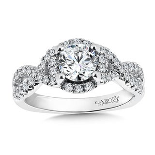 14k White Gold 1 1/6ct TDW Diamond Designer Engagement Ring (F-G, SI1-SI2)
