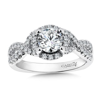14k White Gold 1 1/6ct TDW Diamond Designer Engagement Ring
