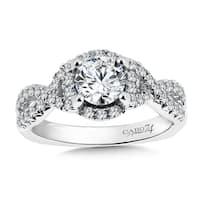 14k White Gold 1 1/6ct TDW Diamond Designer Engagement Ring