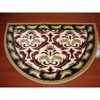 Fireplace Floral Beige/ Red Hearth Rug (2'2 x 3'2)