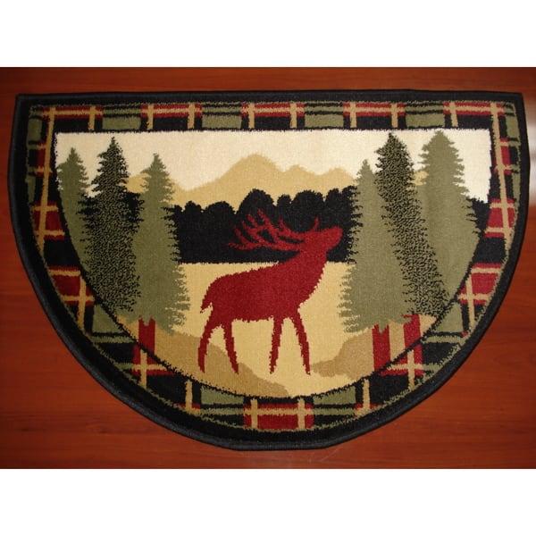 Shop Hearth Rug Wildlife Fireplace Lodge Cabin Moose Fire Retardant Overstock 10068586