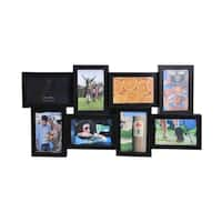 Melannco 8-opening Espresso Wedge Collage Frame