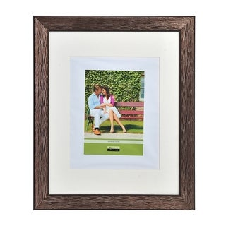 Melannco Brown 16x20 Matted 11x14 Photo Portrait Frame