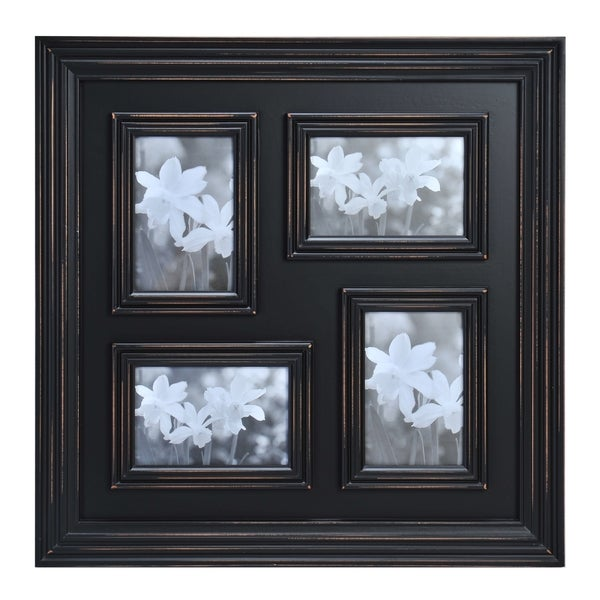 Shop Melannco 4 Opening Distressed 4x6 Black Collage Frame Free