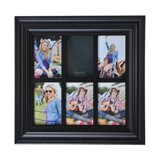 Melannco 6-opening Espresso Window Collage Frame