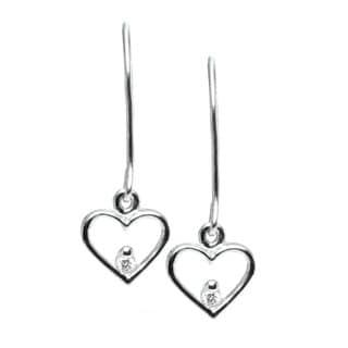 Michael Valitutti 10k Gold Diamond Heart Earrings
