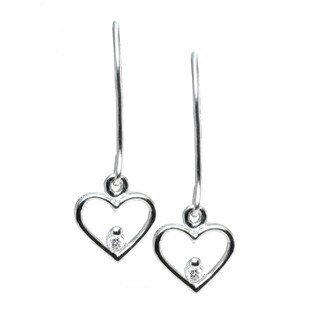 Michael Valitutti 10k Gold Diamond Heart Earrings