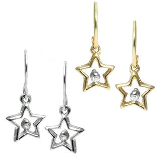 Michael Valitutti 10k Gold Diamond Star Earrings