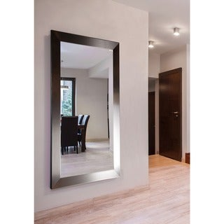 American Made Rayne Extra Large 37.5 x 76.5-inch Silver Petite Vanity Wall Mirror