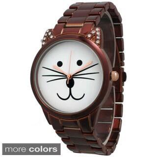 Olivia Pratt Women's Purrfect Cat Bracelet Band Watch