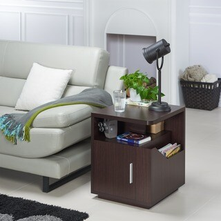 Furniture of America Modern Jules Storage End Table
