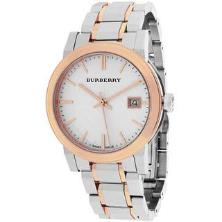 Burberry Women S Bu9105 The City Round Silvertone Bracelet Watch
