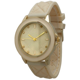 Olivia Pratt Women's Quilted Silicone Band Watch (2 options available)