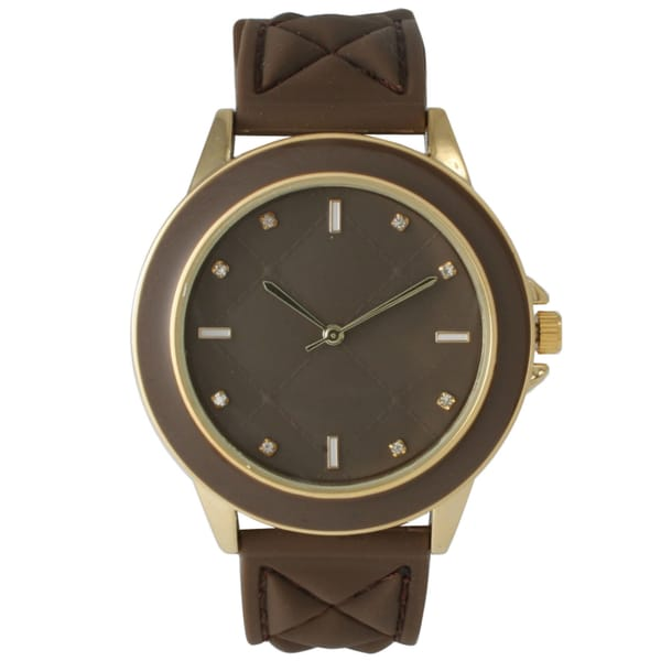 Olivia Pratt Women's Quilted Silicone Band Watch