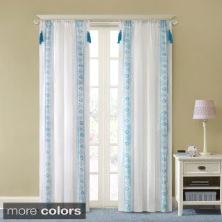 Mi Zone Leah Embroidered Tassel Curtain Panel