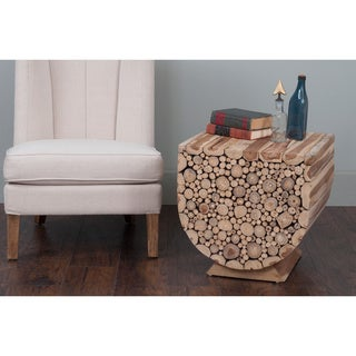 Decorative Biggs Modern Tan Specialty Accent Table